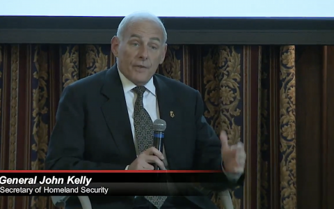 Live Conference – General J. Kelly chief Homeland Security