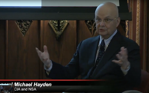 Live Conference – Gen Hayden (frmr. chief of CIA)